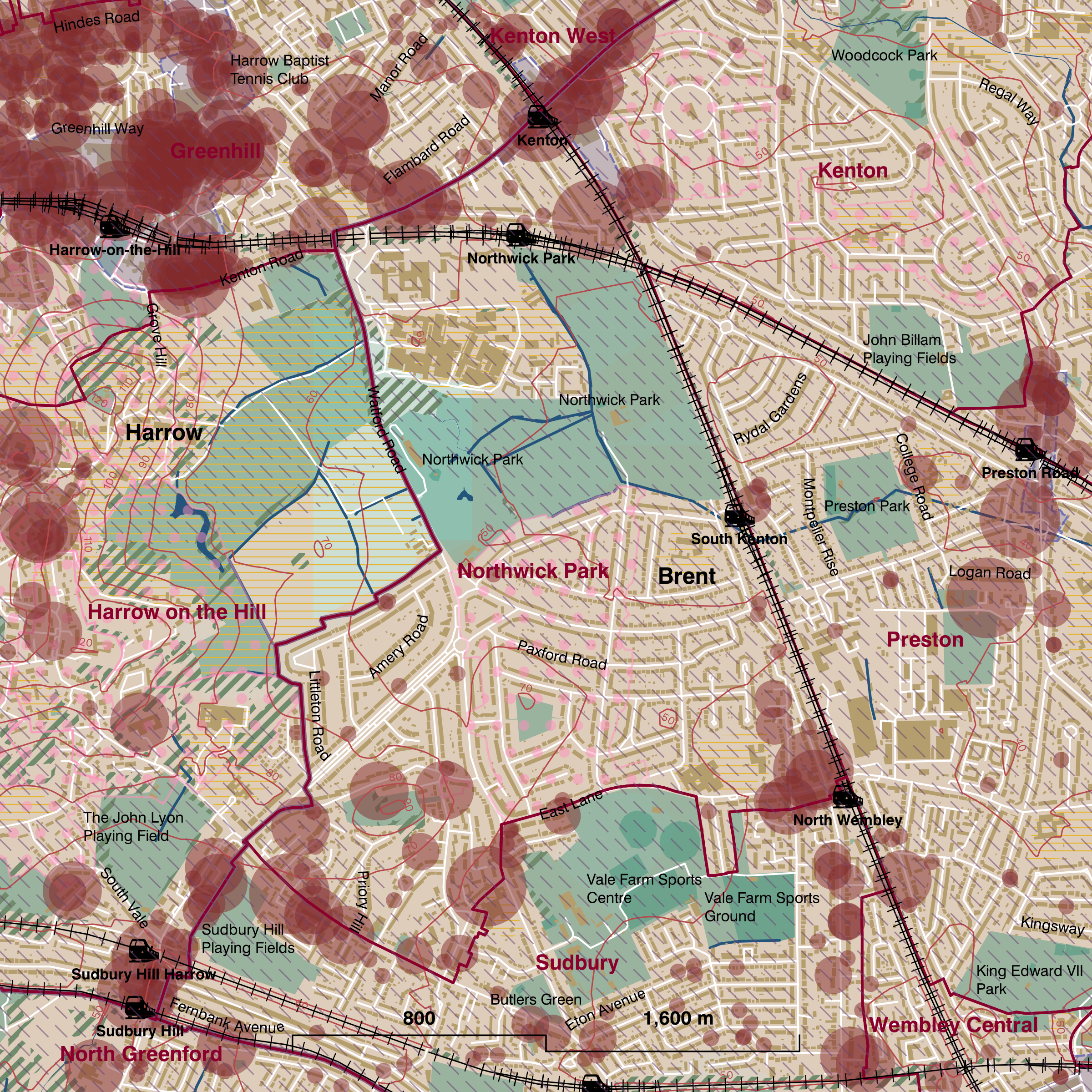 Map of Northwick Park ward