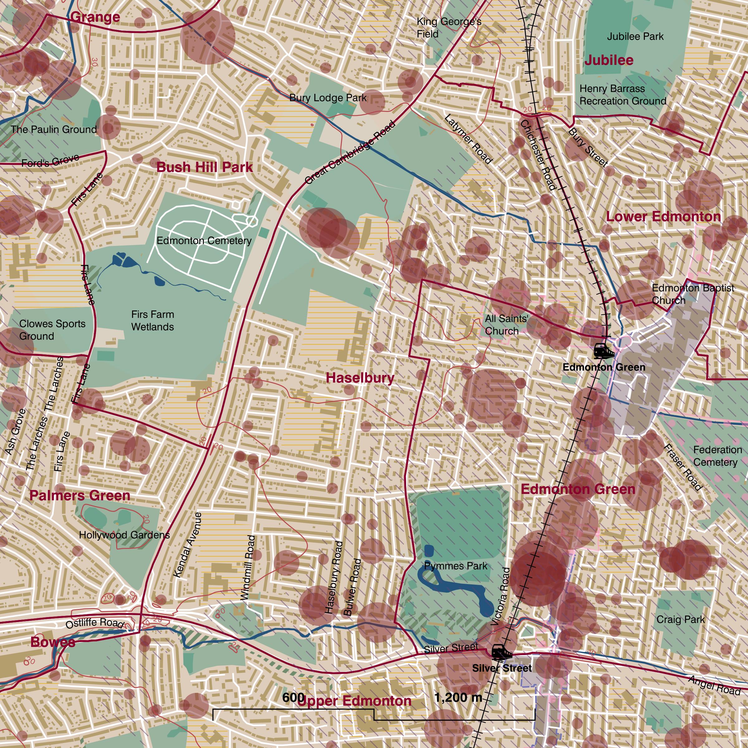 Map of Haselbury ward