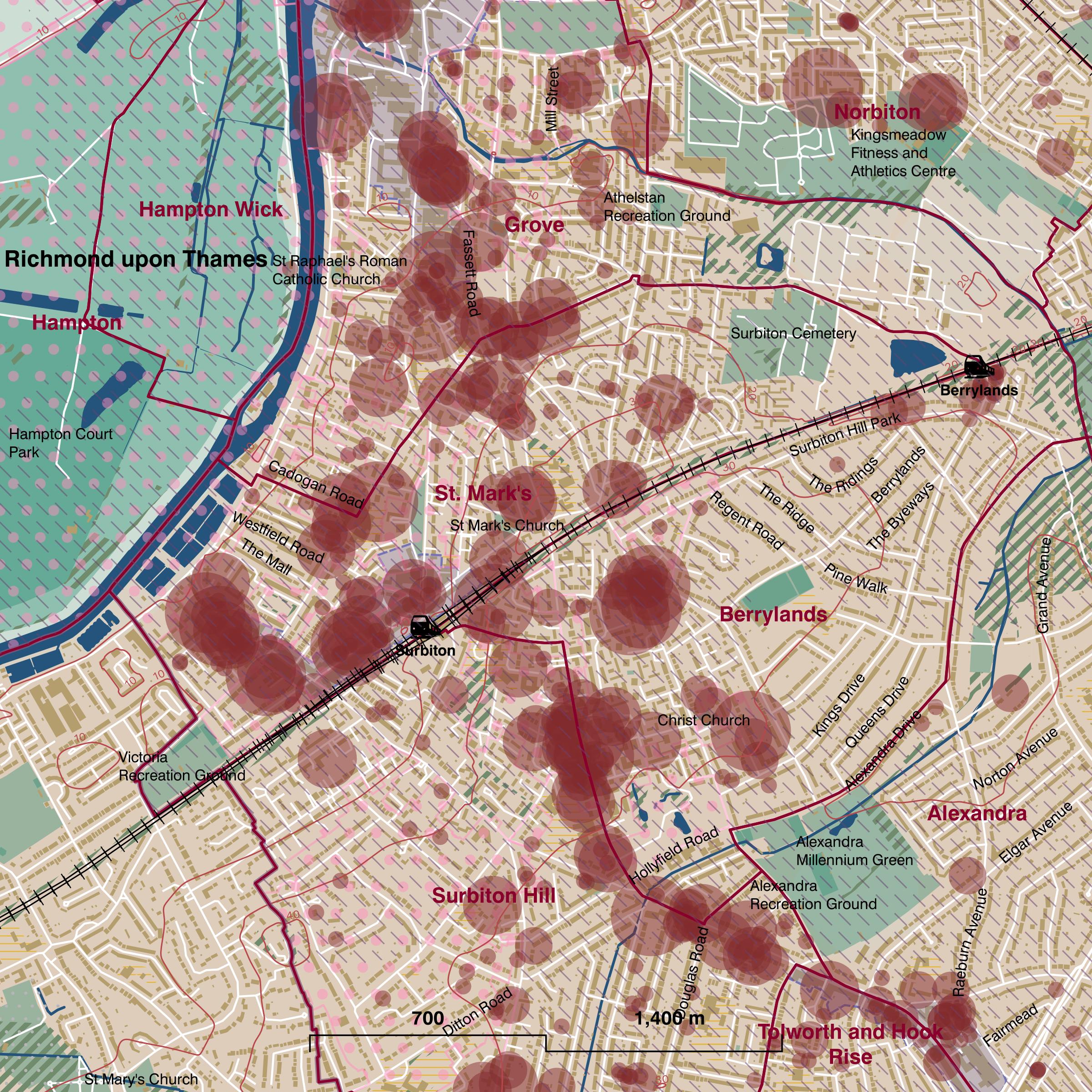 Map of St. Mark's ward