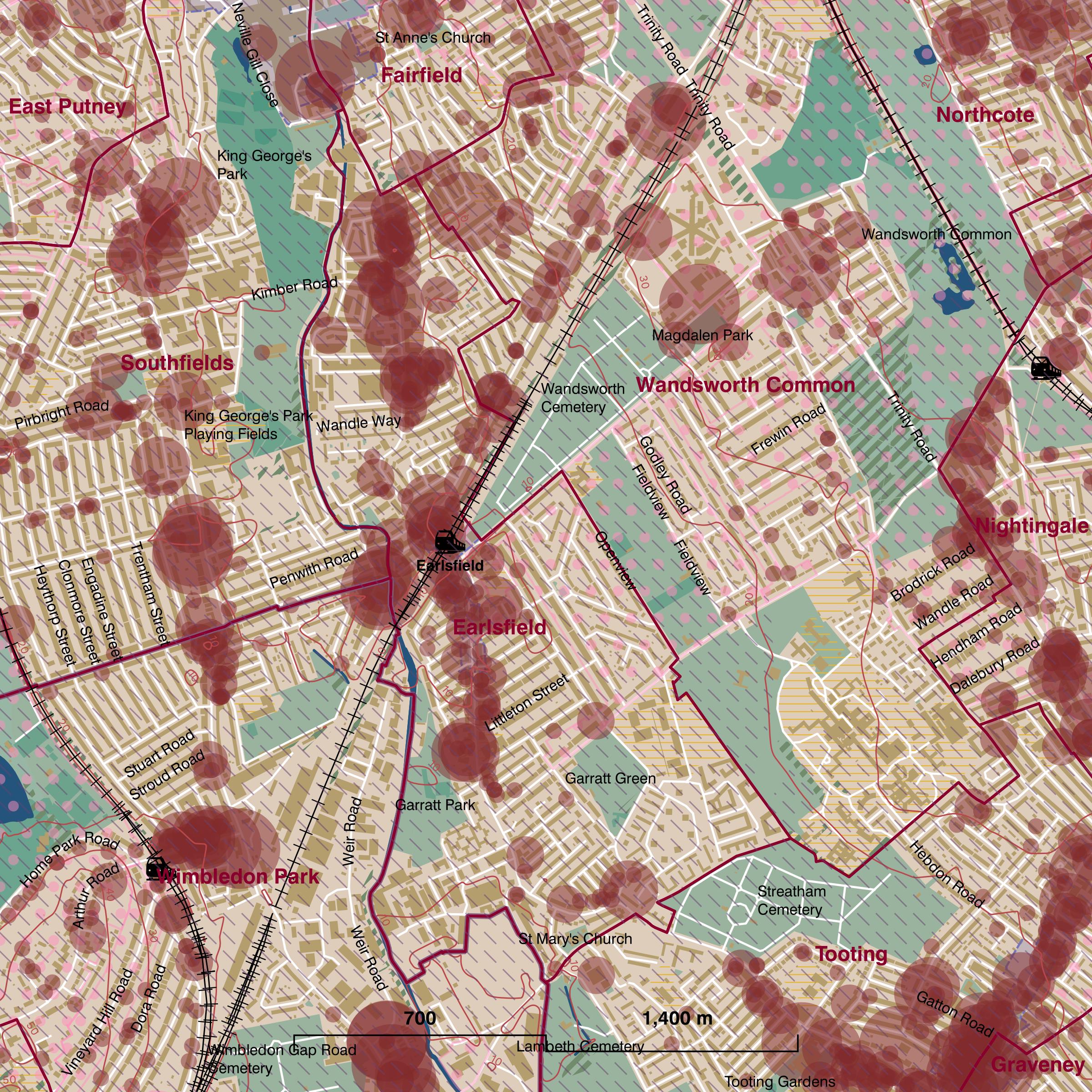 Map of Earlsfield ward