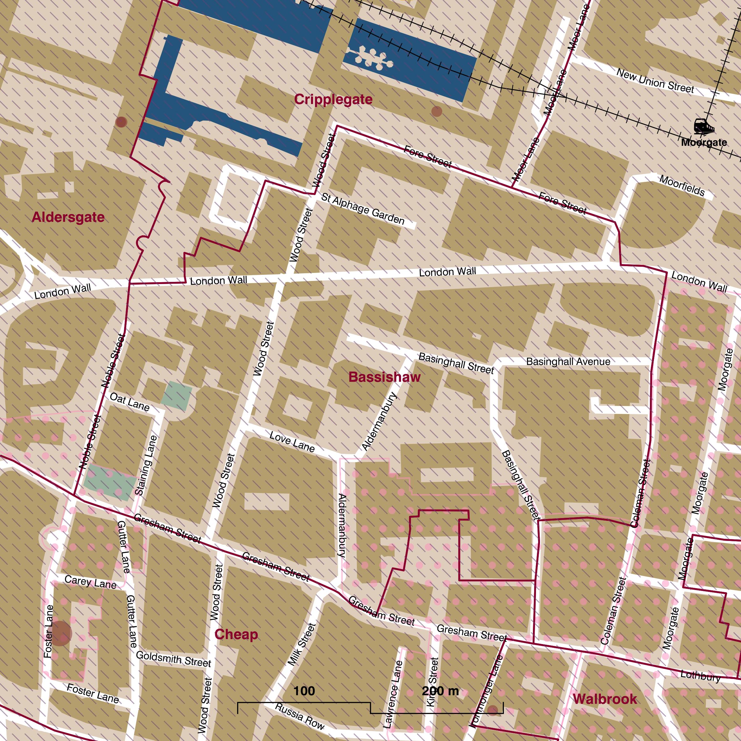 Map of Bassishaw ward