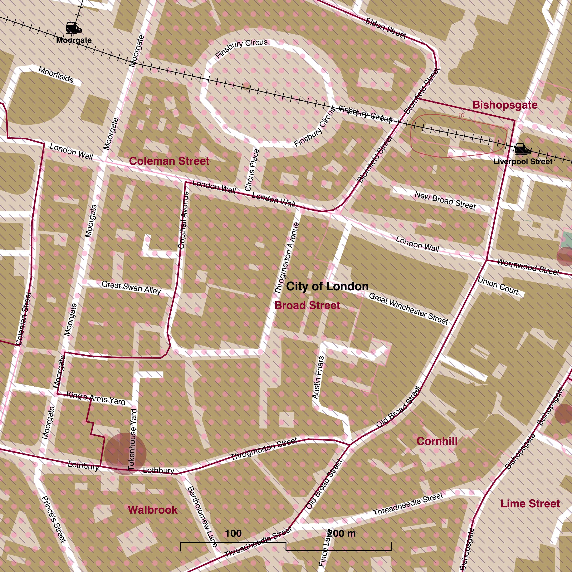 Map of Broad Street ward