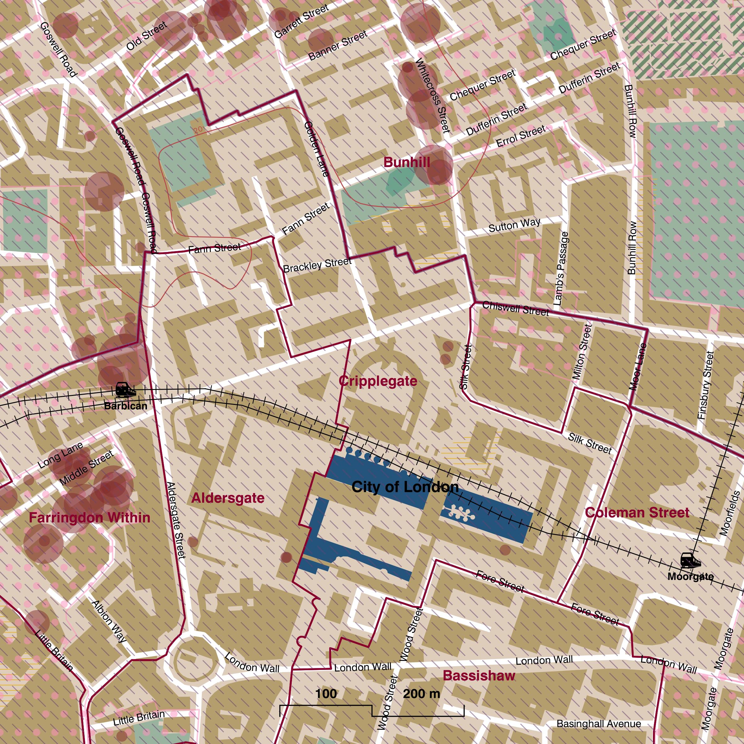 Map of Cripplegate ward